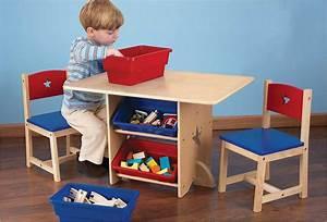 Petite Table En Bois : petite table de rangement pour enfant en bois naturel kidkraft ~ Teatrodelosmanantiales.com Idées de Décoration