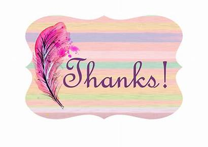 Thank Card Background Pink Template Quill Perfect