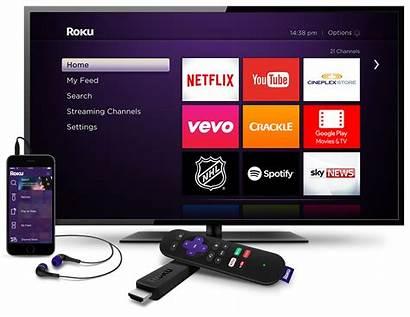 Roku Stick Tv Streaming Power Dorm Headphones