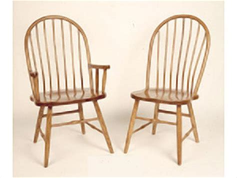 amish hardwood seven spindle back arm or side dining chair
