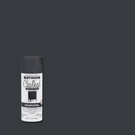 interior paint colors home depot rust oleum 12 oz charcoal ultra matte interior chalked