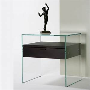 Table De Chevet Design En Verre