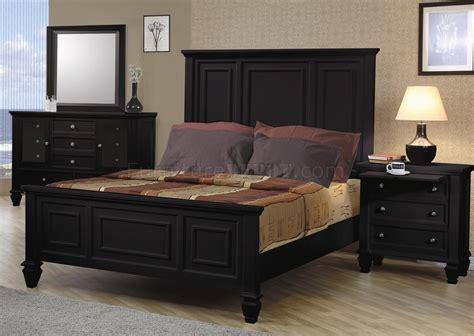 black finish classic  pc bedroom set woversized