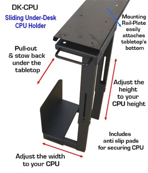 Cpu Holder Desk Malaysia by Dk Cpu Professional Slidable Desk Cpu Holder Ebay