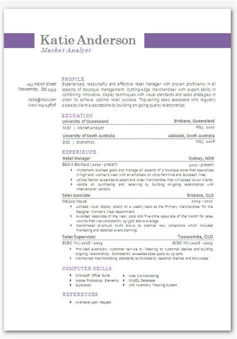 Microsoft Cv Templates by Modern Microsoft Word Resume Template By Inkpower On