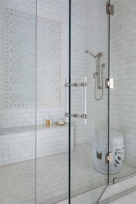 ideas  white tile shower  pinterest white