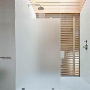 Paroi Douche Verre Sablé : paroi de douche verre trempe securit 8 mm ~ Premium-room.com Idées de Décoration