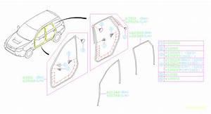 2009 Subaru Forester Window Channel  Right  Rear   Run Channel Door  Weather  Strip  Body