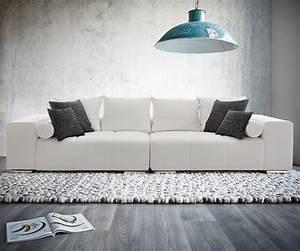 Big Sofa Weiß : big sofa marbeya weiss 290x120 mit 10 kissen ecksof ~ Markanthonyermac.com Haus und Dekorationen