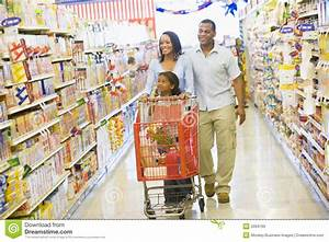 Family Shopping In Supermarket Royalty Free Stock Images ...