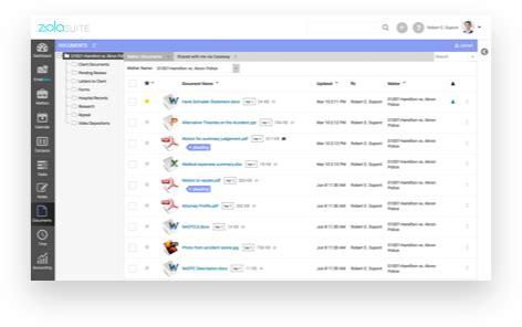 law firm case management software zola suites features