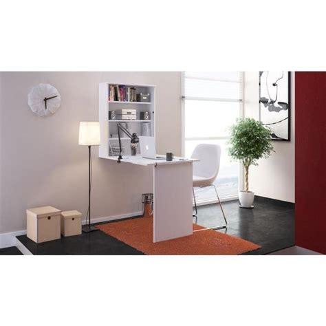 small bureau rabattable contemporain blanc l 150 cm