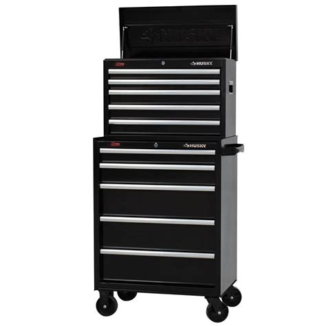 husky 27 in w 10 drawer tool chest and cabinet set h5ch2