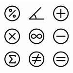 Math Maths Icons Symbols Mathematics Clipart Icon