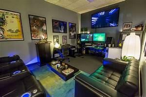 Gaming Zimmer Deko : die besten 25 zocker zimmer ideen auf pinterest videospielorganisation pc gaming setup und ~ Markanthonyermac.com Haus und Dekorationen