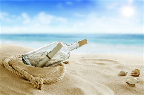 message   bottle beaches nature background