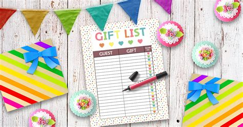 Download 33 of the most popular modern and classic baby shower games, like who knows mommy best, bingo, price is right, jeopardy, and lots more. Free Printable Baby Shower Gift List • Glitter 'N Spice