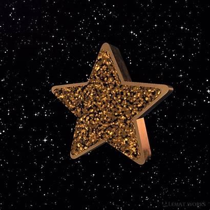 Star Stars Glitter Neon Golden Lemat Works