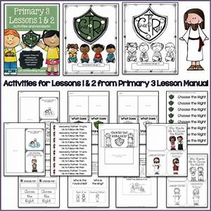 Lds Notebooking  Primary 3
