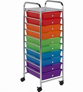 10, Drawer, Storage, Cart, In, Storage, Drawers