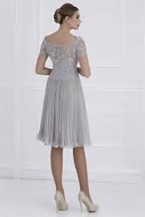 Newdeve V-Neck Silver-Grey Lace Bridal Mother Dresses ...