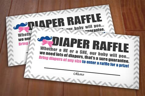 Beau Or Bow Raffle Printable Ticket In Pink And Navy Instant