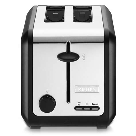 krups 2 slice toaster krups black stainless steel toaster 2 slice cutlery
