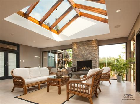 Modern Residential Indoor Skylight Design Ideas by Creating A Seamless Indoor Outdoor Transition Between