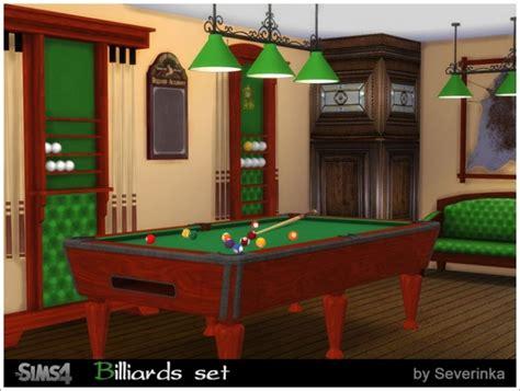 billiard set  sims  severinka sims  updates