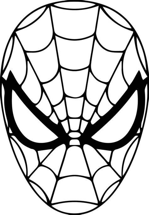 rosto  homem aranha  pintar desenhos  colorir