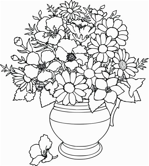 Cool Flower Coloring Pages For Adults Coloring Home