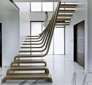 escalier design moderne 79 idees en bois beton metal verre With idee couleur escalier bois 2 escaliers design et contemporains idee deco et amenagement
