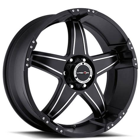 17 quot vision wheels 395 wizard matte black machined road