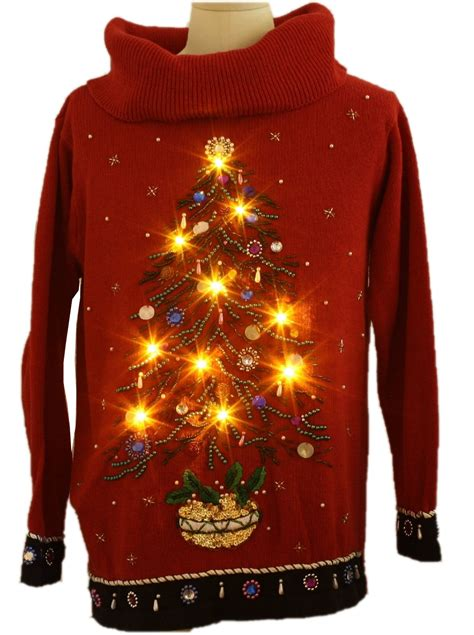 womens oversized slouch fit ugly lightup christmas