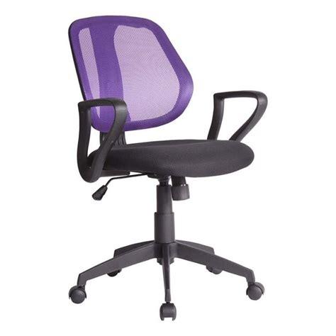réparer chaise de bureau chaise de bureau dossier violet biba id 39 clik achat