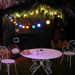 Guirlande Lumineuse Ampoule : guirlande guinguette 10 ampoules lumineuses multicolores sky lantern decoclico ~ Teatrodelosmanantiales.com Idées de Décoration
