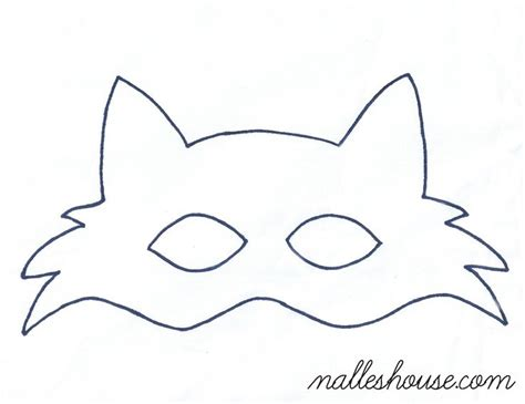 Mask Template Fox Mask Template Sewing Projects Mask