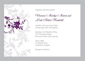 wedding invitations sles free wedding invitation layout design wedding invitation ideas