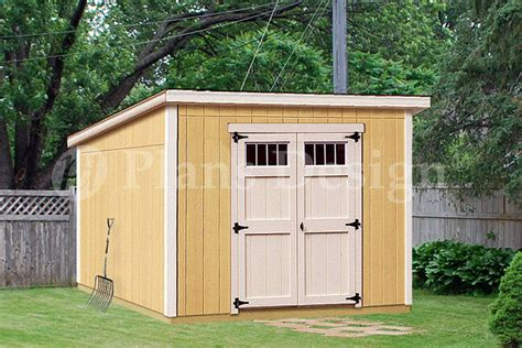 8 10 deluxe shed plans modern roof style d0810m material list included ebay