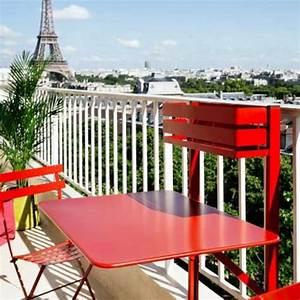 Table De Balcon Rabattable : table pliante bistro balcon coquelicot de fermob ~ Teatrodelosmanantiales.com Idées de Décoration