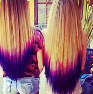 Blue and Purple Dip Dye Hair