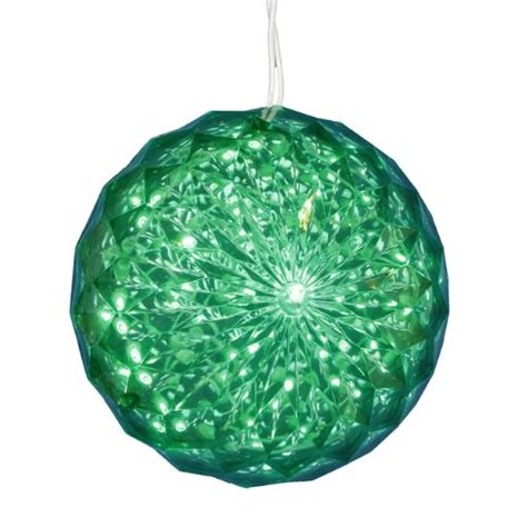 green led lighted hanging crystal sphere ball 171 christmas