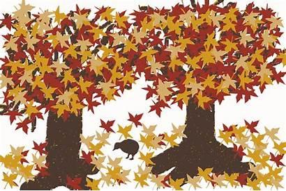 Autumn Clipart Fall Tree Clip Trees Bird