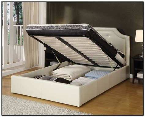 storage bed white gorgeous king size bed frame with storage with spacious