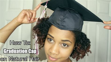 how to put a graduation cap on natural textured hair