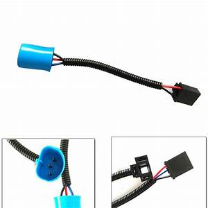 Pair 9007 Male To H4 Female Adapters Headlight Conversion Cable Wiring Harness Adapters For