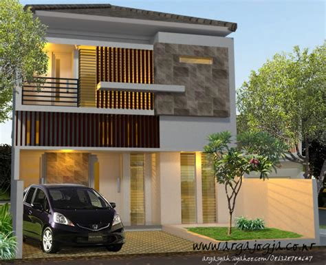 desain fasad rumah modern minimalis  lantai