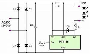 High Power Dimming Led Driver With Pt4115