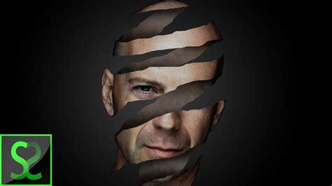 create head peel  photoshop photo manipulation