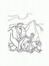 Coloring Ice Age Pages Printable Boys Ages Template sketch template